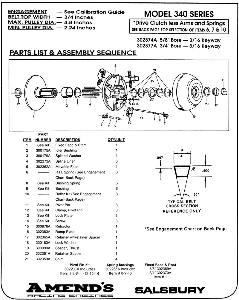 Amends Racing Engines Junior Dragster Clutch Polar Salsbury Jr 4 Stroke Engine Diagram Driven Engage Chart Specifications